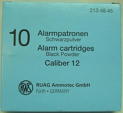 Alarmpatr. Kal.12 - Pappe, 44mm Hülse -a10