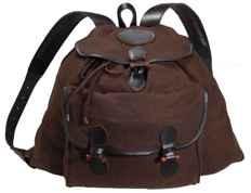 Loden 55x50 cm, braun - große Fronttasche