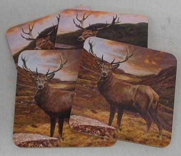 Untersetzer aus Kork - Highlands, 4 Stück Set
