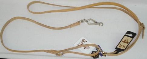 Umhängeleine Fahlleder 1,85 m - 14 mm breit