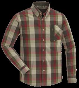 Himalaya Hemd mit Strech - material-grün/rot kariert