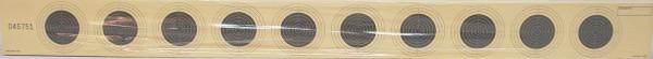 LG-Scheibenstreifen 10er - 56X5,2cm,nummeriert