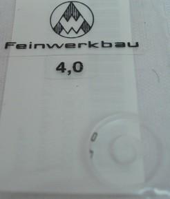 Ringkorn 4,0 mm - glasklar, klein