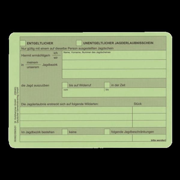 Jagderlaubnisschein - a 1 stk
