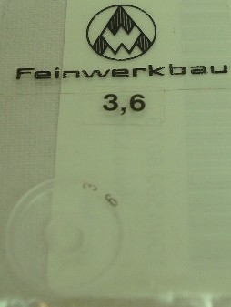 Ringkorn 3,6mm - glasklar, klein