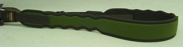 Niggeloh Gewehrriemen einfach Elegant grün Neopren mit Griffkonturen
