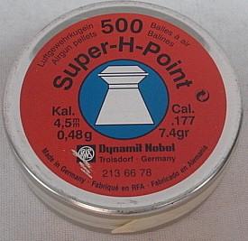 SuperHollowPoint 4,50mm - 0,45g/7,4gr (a500)