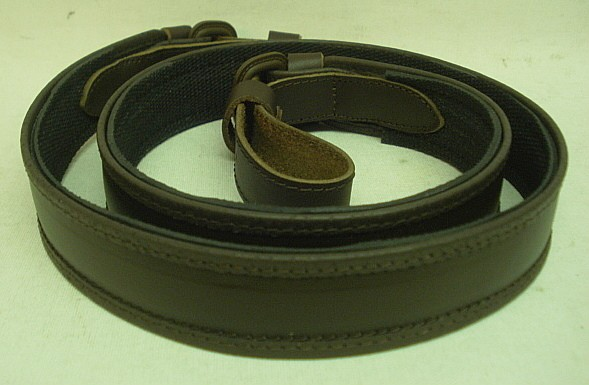 Leder mit Gummiunterlage - 30mm breit