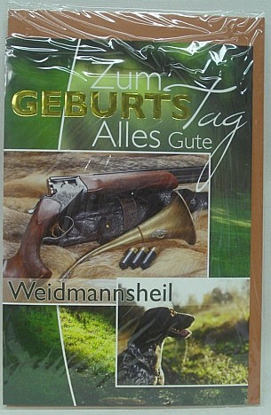 Geb.Karte Jagdhund - Waidmannsheil