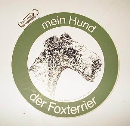 Aufkleber Foxterrier -