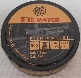 R10 Match 4,50mm - 0,53g/8,2gr (a500)