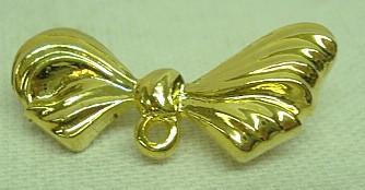 Metallschleife, vergoldet-mit Sicherheitsnadel
