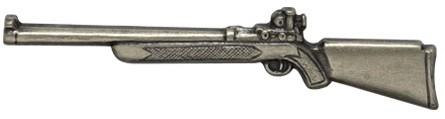 Krawattenschieber Gewehr - silber