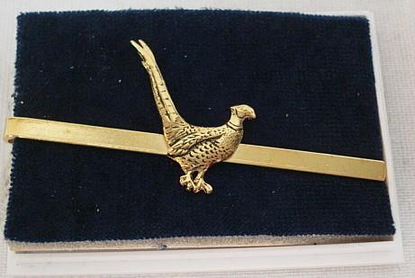 Krawattenschieber Fasan gold -