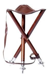 Ansitzstuhl Dreibein 55 cm - mit Metallspitzen