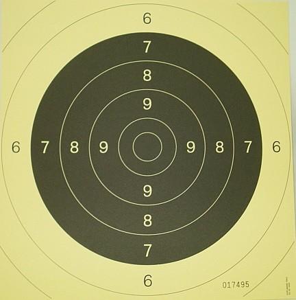 Spiegel f. Pistolenscheibe 25m - 26x26cm (Einzelpreis)