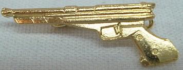 Abzeichen Pistole gold -