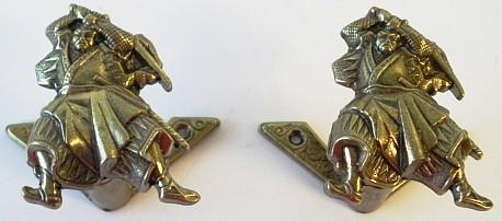 Samurai Wandhalter 2 tlg. - Gold, ausziehbar