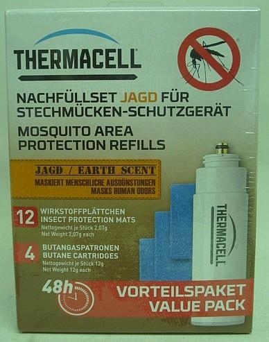 ThermaCell Nachfüllpack.Jagd - inkl.4Kartusche u.12 Wirkstoff
