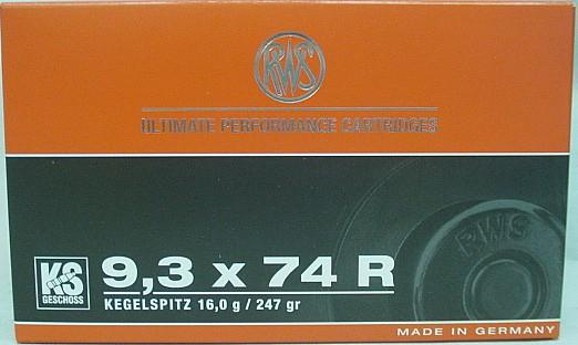 9,3x74 R KS - 16,0g / 247Grs. (a20)
