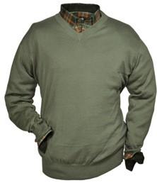 V-Ausschnitt, einfaches Modell - Material: 100% Baumwolle