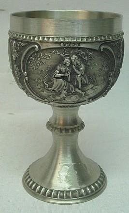 Weinrömer aus Zinn - 1/8 Liter, Höhe 11,5 cm