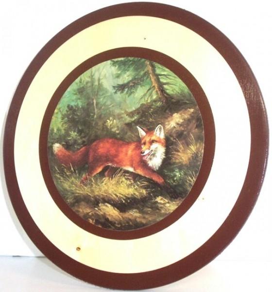Ehrenscheibe Fuchs 30cm - Sperrholz, 30 cm