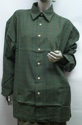 Hemd Wales 1/1-Arm Gr.M - Brusttasche, 100% Baumwolle