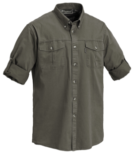 Safari Langarmhemd - 2 Brusttaschen