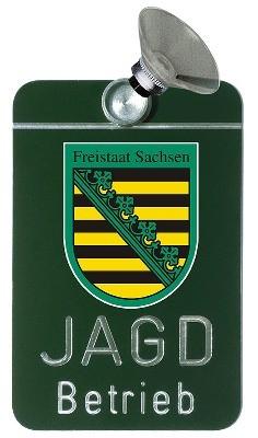 Autoschild Jagdbetrieb - Sachsen