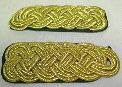 Schultergeflecht 5-bogig - goldfarbig Metallgespinst
