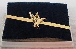 Krawattenschieber Ente gold -