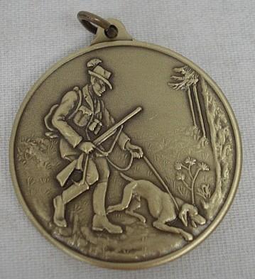 Jagdmedaille Hundeführe-bronze - 40 mm, Ring und Öse