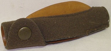 Mündungsschoner f. Rep. - mit hohem Korn, Leder/Loden