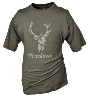 Rundhals Shirt Platzhirsch - Material: 100% Baumwolle