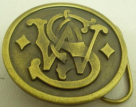 Gürtelschlaufe S&W goldfarbig - 6 cm Durchmesser