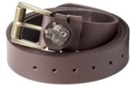 Ledergürtel 30mm breit - 130cm Länge,braun,Keilermotiv