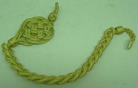 Schützenschnur 50 cm - goldfarbiges inox.