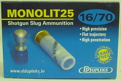 Ddupleks Monilite25 Kal.16/70 - bleifre/32g/495 gr/a 5