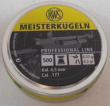Meisterkugel 4,50mm - 0,53g/8,2gr (a500)