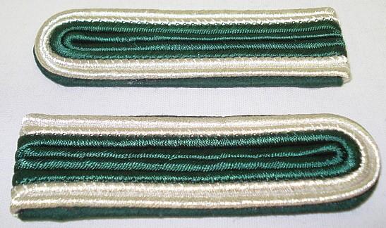 Schulterstück 4 streifig - Innen-grün/ Außen-silber