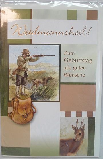 Geb.Karte Jäger/Hund/Bock -