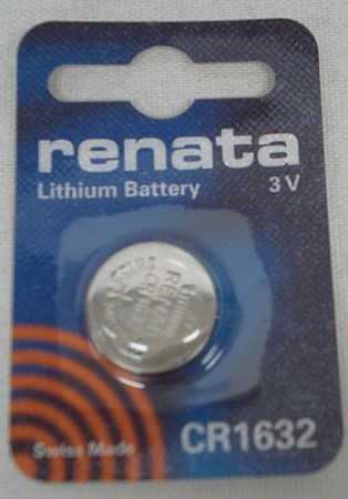 Batterie CR 1632 - 3 V / Fastfire III+Meopta Red