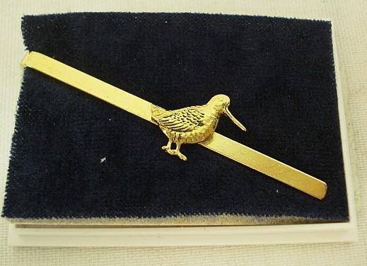 Krawattenschieber Schnepfe - gold