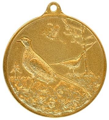 Jagdmedaille Fasan-gold - 40mm,Ring/Öse