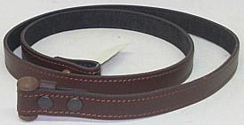 Gewehrriemen Trageriemen mit Knebelverschluss aus Leder Breite 2 cm