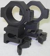 Schnellmontage 30mm Ring - mit Adapter 25,4 mm