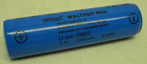 Einzelakku für Walther Pro - Lampen, ICR18650