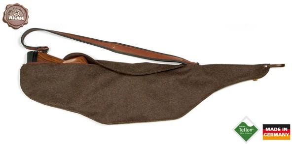 Pirschfutteral aus Loden braun - 120cm, teflonbeschichtet