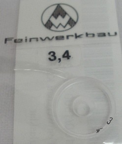 Ringkorn 3,4 mm - glasklar, klein